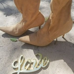 casadei suede boots size 10.5